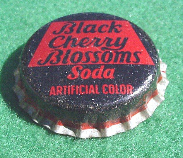 Bottle Cap  Black Cherry Blossoms - Bottle Cap Soda