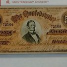 Vintage Reprint Confederate States Of America $50 Banknote. Fifty Dollars 1864.