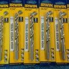 New Irwin 7 pc Large High Speed Steel Drill Bit Set