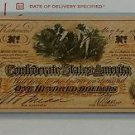 Vintage Reprint Confederate States Of America $100 Banknote One Hundred 1864.