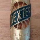 Genuine NOS 1910s Brass Era Dexter Wheel St. Louis Bicycle Headbadge Head Badge