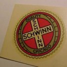Schwinn Seat Tube Seal Decal. Old Style. Phantom Panther Hornet Wasp Autocycle.