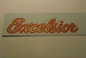 Schwinn Excelsior Board Track Racer Bicycle Single Downtube Decal Best Printing!