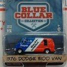 Greenlight 1/64 Blue Collar 1976 Dodge B-100 Mopar Direct Connection Work Van