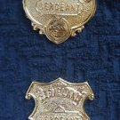 Obsolete SERGEANT East Cleveland OHIO Police Badge Set HM EXCELSIOR