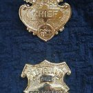 Obsolete ASSISTANT CHIEF SET East Cleveland OHIO Police Badge Badge Rare Rank