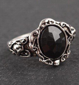Black Onyx Ring Size 9