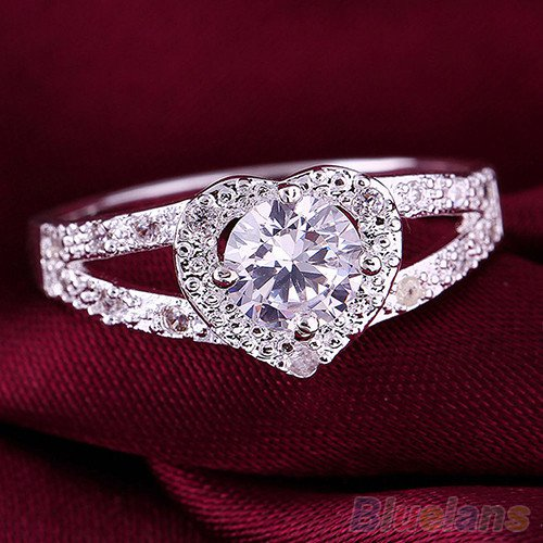 Silver Heart Filgree Ring Size 8