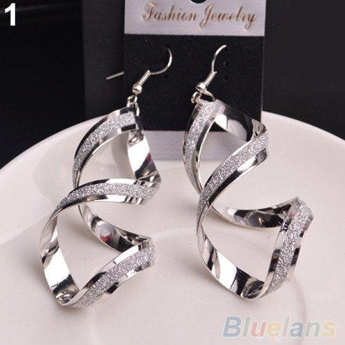Silver Swirl Dangle Earrings