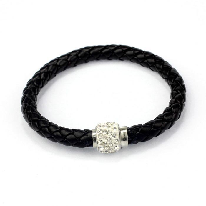 Black Magnetic Cord Bling Bracelet