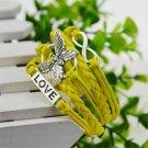 Yellow Infinity Butterfly Love Bracelet