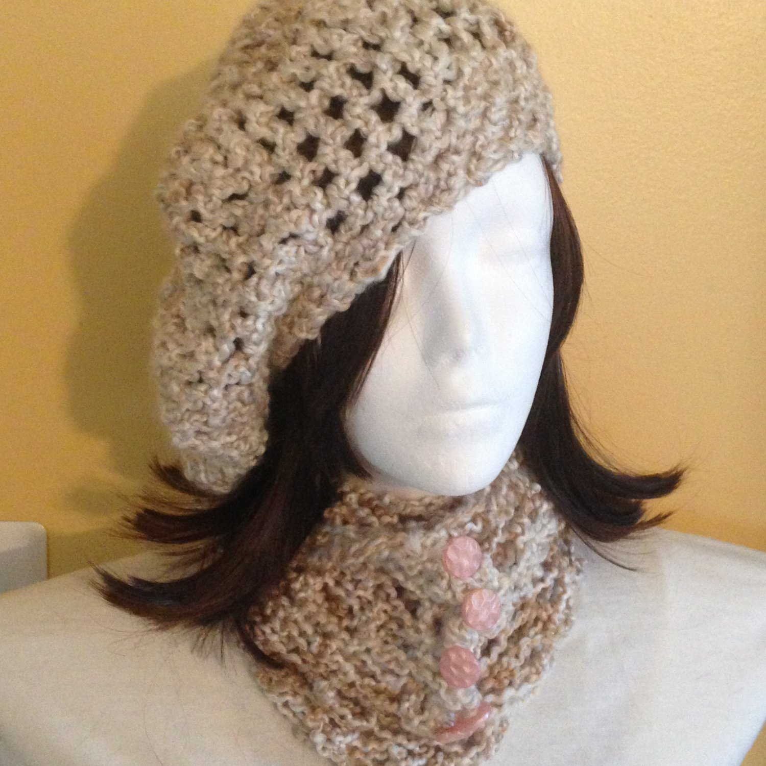 Soft Sands Matching Slouch Hat and Scarf 2 Piece Regular Women
