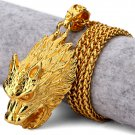 Hip Hop Fashion Gold Plated Wolf Pendent Necklace