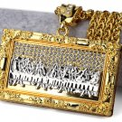 Hip Hop Fashion Gold Plated Crystals Gold The Last Supper Pendent Necklace