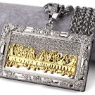 Hip Hop Fashion Gold Plated Crystals Silver The Last Supper Pendent Necklace