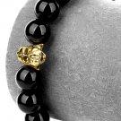 Hip Hop Fashion Agate 1cm Bead Bracelet