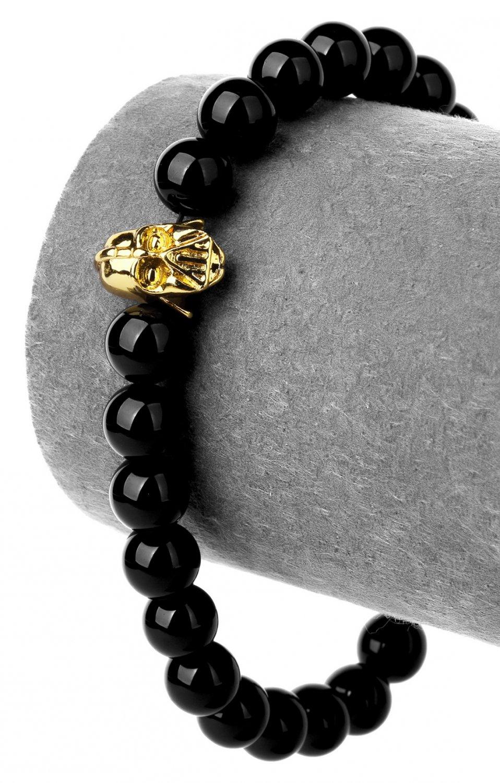 Hip Hop Fashion Agate 0.8cm Bead Bracelet