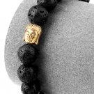 Hip Hop Fashion Lava 1cm Bead Bracelet