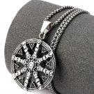 Hip Hop Fashion Steel Rudder Pendent Necklace