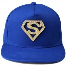 Hip Hop Fashion Unisex Crystals Diamond Tag Blue Baseball Cap