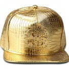 Hip Hop Fashion Unisex Alligator Pattern Crystals Money Tag Gold Baseball Cap