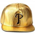 Hip Hop Fashion Unisex Alligator Pattern P Tag Gold Baseball Cap