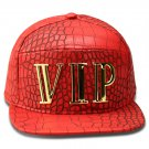 Hip Hop Fashion Unisex Alligator Pattern VIP Tag Red Baseball Cap