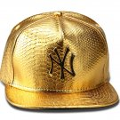 Hip Hop Fashion Unisex Alligator Pattern NY Tag Gold Baseball Cap
