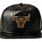 Hip Hop Fashion Unisex Alligator Pattern Bull Tag Black Baseball Cap