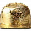 Hip Hop Fashion Unisex Alligator Pattern Bull Tag Gold Baseball Cap