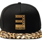 Hip Hop Fashion Unisex Crystals E Tag Leopard Baseball Cap