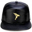 Hip Hop Fashion Unisex Alligator Pattern Machine Gun Tag Black Baseball Cap