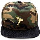 Hip Hop Fashion Unisex Machine Gun Tag Camouflage Baseball Cap