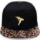Hip Hop Fashion Unisex Machine Gun Tag Leopard Baseball Cap