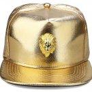 Hip Hop Fashion Unisex Alligator Pattern 3D Lion Tag Gold Baseball Cap