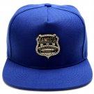 Hip Hop Fashion Unisex Crystals Badge Tag Blue Baseball Cap