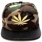 Hip Hop Fashion Unisex Hemp Tag Camouflage Baseball Cap