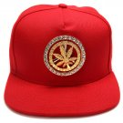 Hip Hop Fashion Unisex Crystals Rotate Hemp Tag Red Baseball Cap