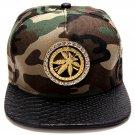 Hip Hop Fashion Unisex Crystals Rotate Hemp Tag Camouflage Baseball Cap