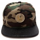 Hip Hop Fashion Unisex Crystals Jesus Tag Camouflage Baseball Cap