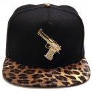 Hip Hop Fashion Unisex Gun Tag Leopard Baseball Cap