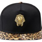 Hip Hop Fashion Unisex Crystals Pharaoh Tag Leopard Baseball Cap