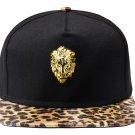 Hip Hop Fashion Unisex 3D Lion Tag Leopard Baseball Cap
