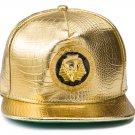 Hip Hop Fashion Unisex Alligator Pattern Epoxy Pharaoh Tag Gold Baseball Cap