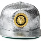 Hip Hop Fashion Unisex Alligator Pattern Epoxy Pharaoh Tag Silver Baseball Cap