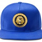 Hip Hop Fashion Unisex Epoxy Pharaoh Tag Blue Baseball Cap