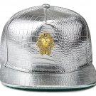 Hip Hop Fashion Unisex Alligator Pattern Crystals Pharaoh Tag Silver Baseball Cap