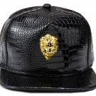 Hip Hop Fashion Unisex Alligator Pattern 3D Lion Tag Black Baseball Cap