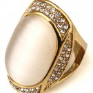 Hip Hop Fashion Unisex Exaggerate Crystals Ring (Size US6 ~ US9)