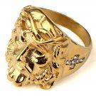 Hip Hop Fashion Unisex Crystals Jesus Ring (Size US6 ~ US12)